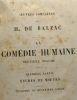 La comédie humaine 12e volume - première partie études de moeurs - troisième et quatrième livres - oeuvres complètes de H. de Balzac. Balzac Honoré De