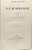 Oeuvres complètes de P.J. de Béranger nouvelle édition ornée de 44 gravures sur acier --- TOME SECOND ---. P. J. De Béranger