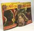 """5 livres collection """"allo police"""": madame Patterson aime le silence; la maison dans les sables le cercle de minuit; le club des monstres; ça tire dur. ..."""