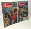 Photo Aventures bi-mensuel - histoire complète --- 2 numéros --- N°16 Fouet de sang + N°17 Duel à San Antonio --- 1963. Collectif