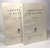 Chronique d'Egypte LIX fasc. 118 (1984) + LX fasc. 119-120 (1985) --- 2 volumes. Fondation Égyptologique Reine Elisabeth