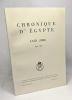 Chronique d'Egypte - LXIII (1988) fasc. 126. Fondation Égyptologique Reine Elisabeth