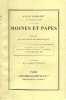 Moines et papes - essais de psychologie historique - un moine de l'an 1000 - sainte catherine de sienne - les borgia - le dernier pape roi. Gebhart ...