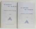 Académie de marine communications et mémoires de 1960 à 1976 (deux volumes). Académie De Marine