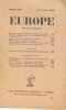 Europe revue mensuelle numéro 182 15 février 1938. Collectif