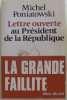 Lettre Ouverte Au President De La Republique. Poniatowski Michel
