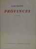 Provinces poèmes. Bastier Alain