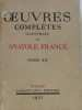 Oeuvres complètes illustrées de Anatole France (tome XII). Collectif