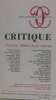 Critique n°339-340 aout-septembre 1975. Collectif