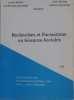 Recherches et formations en sciences sociales. Collectif