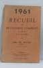 1961 recueil de 100 examens complets livre du maitre tome I.