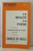 Europe revue mensuelle la réalité la poésie cahier quatre de poésie (étrangère) charles de gaulle.
