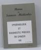 Revue des sciences médicales n° 188 mars 1970 épidémiologie et diagnostic précoce du cancer III. Kouchner G