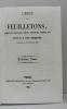 L'écho des feuilletons  recueil de nouvelles  contes  anecdotes  épisodes  etc. extraits de la presse contemporaine (2 vols) I 1843-44  II 1844-45.