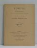 Louise roman musical en quatre actes et cinq tableaux. Charpentier Gustave