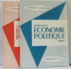 Elements d'économie Politique (Tome un et deux). Reverdy  Bataillard