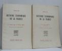 Histoire économique de la france tome premier le moyen âge et l'ancien régime  tome deuxième les temps modernes (1789-1914). Sée Henri