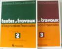 Textes et travaux d'expression française 2e et 3e années CAP formation continue. Dupuy  Leroy  Monnerie