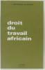Droit du travail africain. Matons