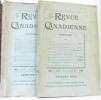 La Revue canadienne  religioni  patriae  atribus Tome XXXVIIe (premier et deuxième volume). Leclaire (sous La Direction De)