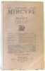 Mercure de France n°599 - Tome CLXIV 1er juin 1923. Vallette (directeur)