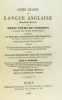 Cours gradué de langue anglaise. 2 e partie (deuxième partie). Ou petit cours de versions contenant un recueil d'anecdotes historiques. Sadler