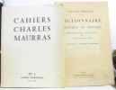 Cahiers Charles Maurras n°1 avril 1960 (avec son supplément: dictionnaire politique et critique  fascicules 1 académie Angleterre). Maurras