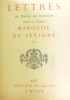 Lettre de Marie de Rabutin  dame de Chantal Marquise de sévigné (premier volume). Marquise De Sévigné