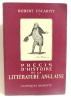 Précis d'histoire de la littérature anglaise. Escarpit Robert