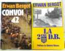 2 livres Convoi 42 + La 2eme D.B. (préface du général Massu). Bergot
