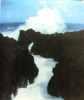 La Reunion du battant des lames au sommet des montagnes. Lavaux