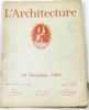L'architecture Vol. XXXVIII n°21 10 novembre 1925. Collectif