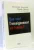 Que vaut l'enseignement en France ? : Les conclusions du Haut Conseil de l'évaluation de l'école. Forestier Christian  Thélot Claude  Emin Jean-Claude