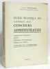 Guide Pratique du candidat aux concours administratifs (1975). Peyrefitte A