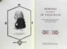 Mémoires du Prince de Talleyrand (9 Tomes - Complet). Talleyrand