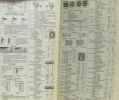 Catalogue des timbres poste de la France de l'empire Colonial Français  Alsace Lorraine  Andorre  Memel  Monaco  Sarre  Pays de protectorats. ...