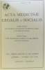 Acta medicinae legalis et socialis volume XXXIX (39) compte rendu du XIV congrès de l'académie-1989 + volume XL (40): 12th interim meeting of the ...