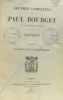 Critique tome premier  essais de la psychologie contemporaine - (oeuvres complètes de Paul Bourget). Bourget