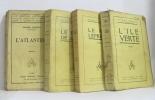 L'ile verte - le puits de jacob - le roi lépreux - l'atlantide (lot de quatre livres). Benoit Pierre