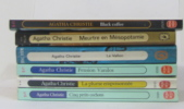 Black coffee - meurtre en mésopotamie - le vallon - pension vanilos - la plume empoisonnée - cinq petits cochons ( lot de 6 livres). A. Christie