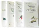 La souris verte + Trois sucettes à la menthe + Olivier et ses amis + David et Olivier - 4 livres. Sabatier Robert