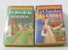 Lot de 2 livres Le Jeu de la Tentation - la chambre des dames. Jeanne Bourin