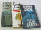 Lot de 3 livres Tueur à gages - dr.fischer de genève - le facteur humain. Greene  Graham