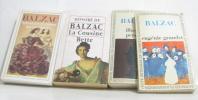 Lot de 4 livres Splendeurs Et Miseres Des Courtisanes - illusions perdues - eugénie grandet - la cousine bette. Balzac Honoré De