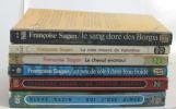 Lot de 6 livres Sang Dore des Borgia (le) - la robe mauve de valentine - le cheval évanoui - un peu de soleil dans l'eau froide - un certain sourire - ...