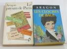 Lot de 2 livres Les cloches de bâle - le paysan de paris. Aragon