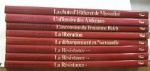 La seconde guerre mondiale 8 volumes : La résistance I  II et III - le débarquement en normandie - la libération - l'ascension du troisième reich - ...