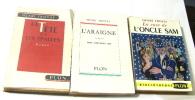 Lot de 3 livres : La tête sur les épaules - l'araigné - la case de l''oncle sam. Troyat Henri