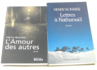 (Lot de 2 livres) L'Amour des autres - lettres à nathanael. Bonnier Henry
