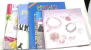 (lot de 5 livres ) Fantaisies de perles et broderies - porcelaine peinte - Bracelets brésiliens - Motifs pour créer et décorer - bijoux de charme. ...